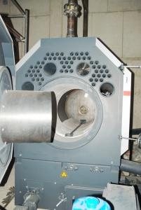 Das Bild zeigt das Innere des Pelletkessel